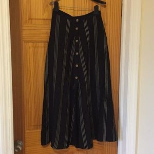 NWT H&M Studio long, button down skirt